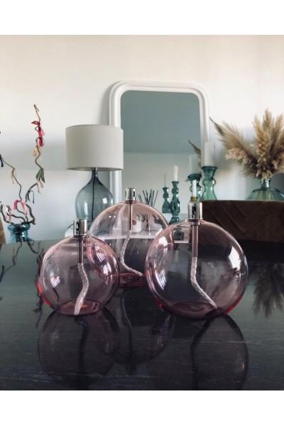 Lampe à huile - Sphère pink