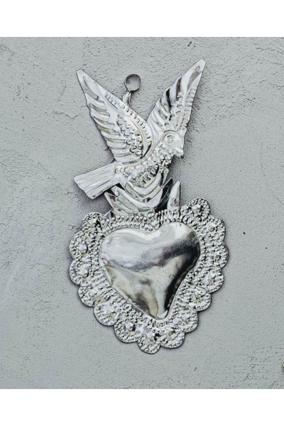 Coeur ex-voto colombe