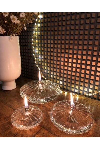 Lampe à huile - Ellipse Striée